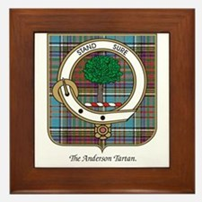 Anderson Clan and Badge Framed Tile