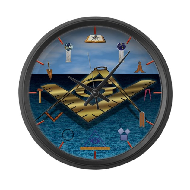 Spreading Light Large Wall Clock by masons