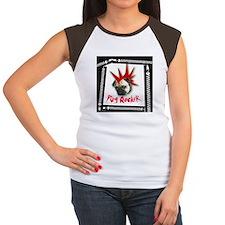 Pug Rocker Chick's Cap Sleeve T-Shirt