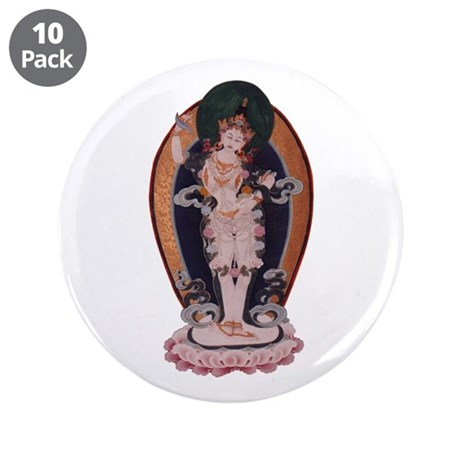 """Yeshe Tsogyal 3.5"""" Button (10 pack)"""