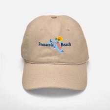 Pensacola Beach FL Baseball Baseball Cap