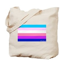 Transgender Bi Flag Tote Bag