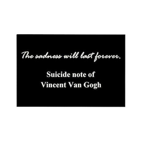 Van Gogh Sadness Rectangle Magnet 2