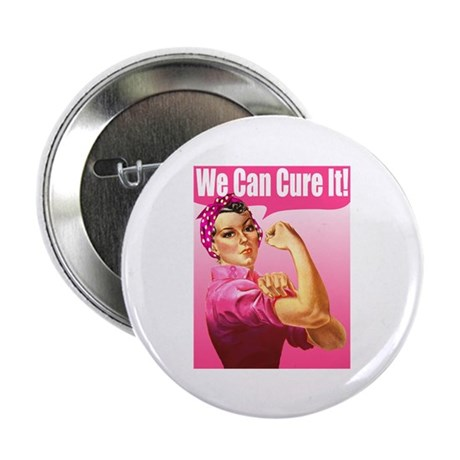 "Rosie Riveter We Can Cure It 2.25"" Button (10 pack"