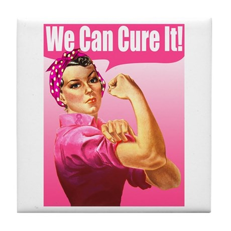 Rosie Riveter We Can Cure It Tile Coaster