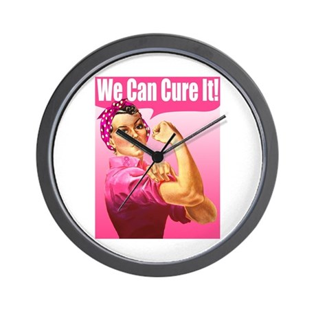 Rosie Riveter We Can Cure It Wall Clock
