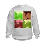 Pop Art Spider Web Kids Sweatshirt