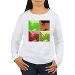 Pop Art Spider Web Women's Long Sleeve T-Shirt