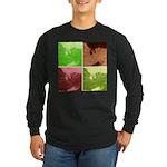 Pop Art Spider Web Long Sleeve Dark T-Shirt