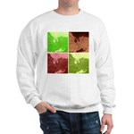 Pop Art Spider Web Sweatshirt