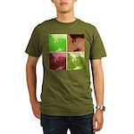 Pop Art Spider Web Organic Men's T-Shirt (dark)
