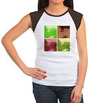 Pop Art Spider Web Women's Cap Sleeve T-Shirt