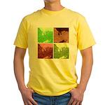 Pop Art Spider Web Yellow T-Shirt
