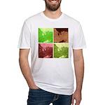 Pop Art Spider Web Fitted T-Shirt