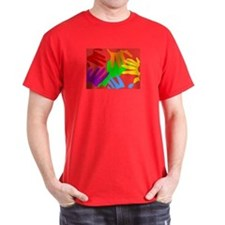 Gay Hands on RED T-Shirt