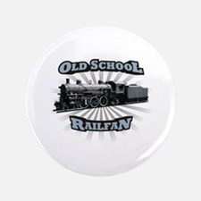 "Old School Railfan 3.5"" Button"