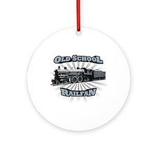 Old School Railfan Ornament (Round)