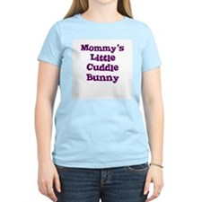 Mommy's Little Cuddle Bunny Women's Pink T-Shirt