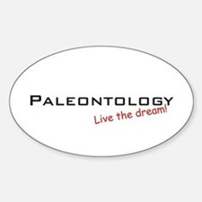 Paleontology / Dream! Oval Decal