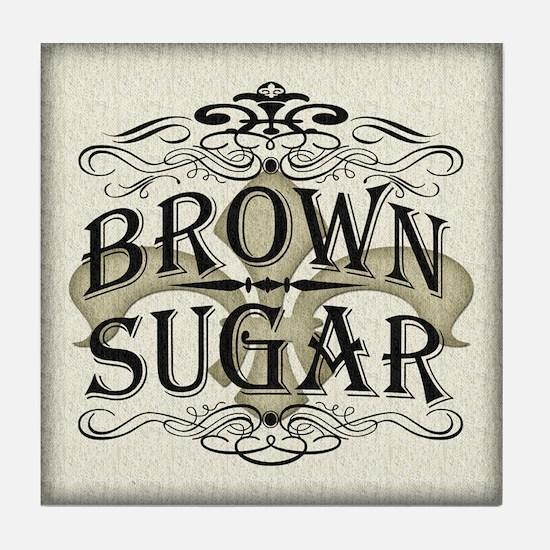 Vintage Brown Sugar Tile Coaster