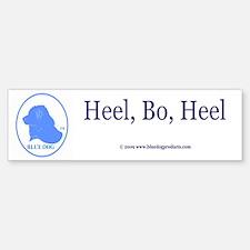 Heel, BO, Heel Bumper Bumper Bumper Sticker