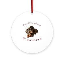 Proud Dachshund Parent Ornament (Round)