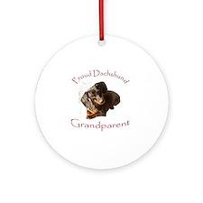 Proud Dachshund Grandparent Ornament (Round)