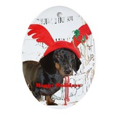 Merry Christmas Oval Ornament