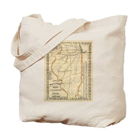 1855 Illinois Tote Bag