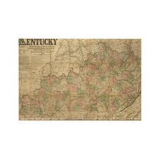 1863 Kentucky Rectangle Magnet