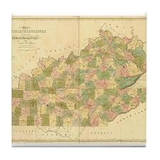 1836 KY & TN Tile Coaster