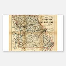 1888 Missouri Rectangle Decal