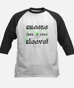 Sneeze into Your Sleeve! Kids Baseball Jersey