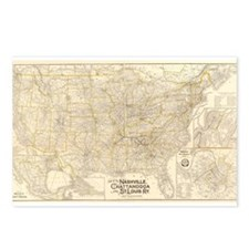1889 Nash, Chatt & St Louis R Postcards (Package o