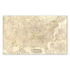 1889 Nash, Chatt & St Louis R Rectangle Decal