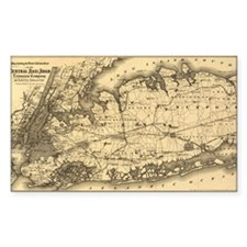 1873 New York City Rectangle Decal