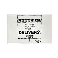 Buddhism Delivers (small) Rectangle Magnet (100 pa