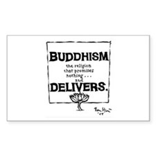 Buddhism Delivers (small) Rectangle Decal