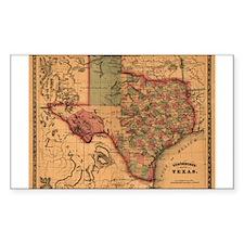 1866 Texas Rectangle Decal