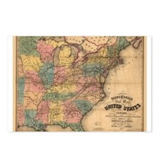 1850 E United States Postcards (Package of 8)