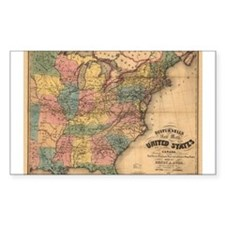 1850 E United States Rectangle Decal