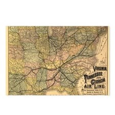 1882 VA, TN, & GA Line Postcards (Package of 8)