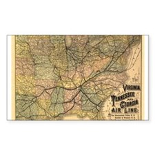 1882 VA, TN, & GA Line Rectangle Decal