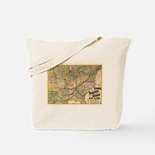 1882 VA, TN, & GA Line Tote Bag