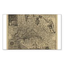 1607 Virginia Rectangle Decal