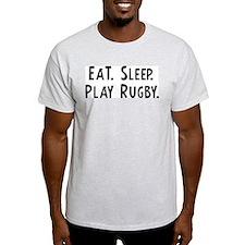 Eat, Sleep, Play Rugby Ash Grey T-Shirt