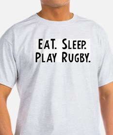 Eat, Sleep, Play Rugby Ash Grey T-Shirt