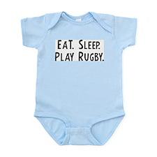 Eat, Sleep, Play Rugby Infant Creeper