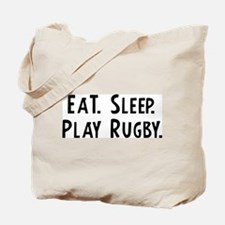 Eat, Sleep, Play Rugby Tote Bag