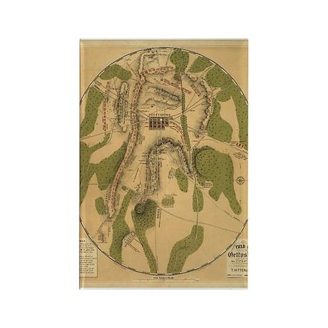 1863 Gettysburg Rectangle Magnet